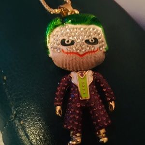 NWT BetseyJohnson Joker Necklace